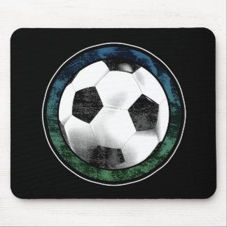 Soccer Emblem Blue Green Mousepad