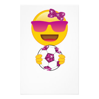 Soccer Emoji With Soccer Ball for Girls and Women Stationery