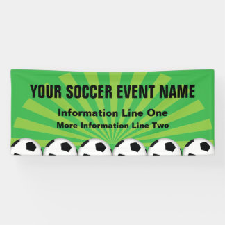 Soccer Event with your custom text Banner