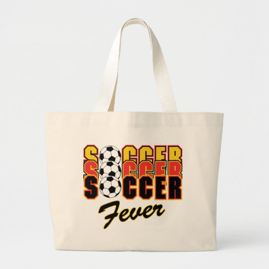 Soccer Fever Large Tote Bag
