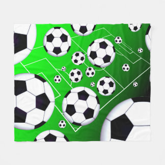 Soccer Field Fleece Blanket
