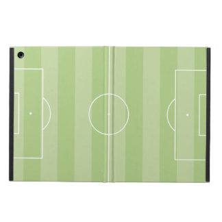Soccer field green iPad air case