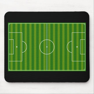 Soccer field mouse pad