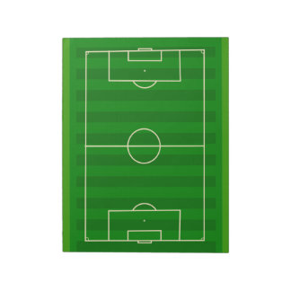 Soccer Field Notepad