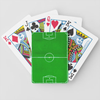 Soccer Field Sketch2 Bicycle Playing Cards