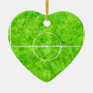 Soccer Field Sketch Ceramic Ornament