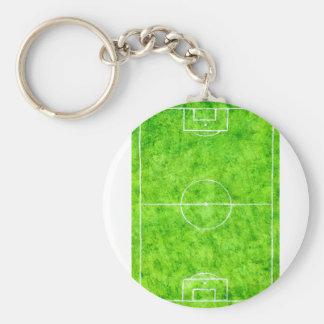 Soccer Field Sketch Keychain