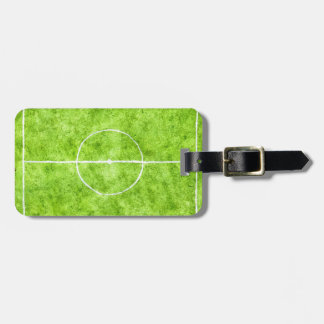 Soccer Field Sketch Luggage Tag
