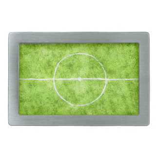 Soccer Field Sketch Rectangular Belt Buckle