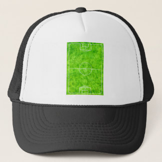Soccer Field Sketch Trucker Hat