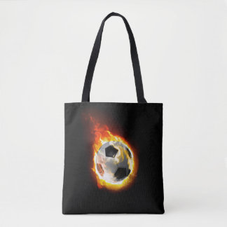 Soccer Fire Ball All-Over-Print Tote Bag