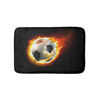 Soccer Fire Ball Bath Mats