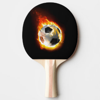 Soccer Fire Ball Ping Pong Paddle