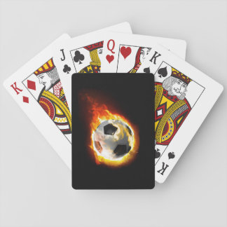 Soccer Fire Ball Playing Cards