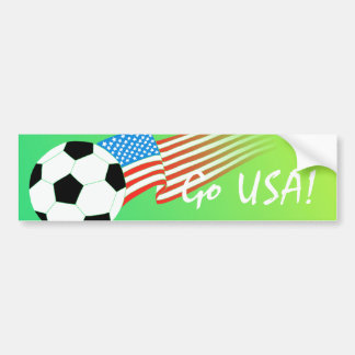Soccer Flag Bumper Sticker