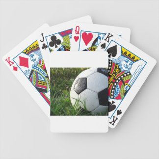 Soccer~ Foot Ball in field Bicycle Playing Cards