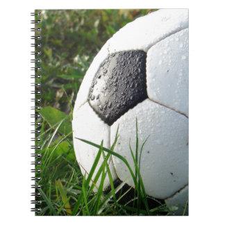 Soccer~ Foot Ball in field Notebooks