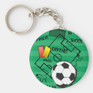 Soccer Football Attack Goal Keychain