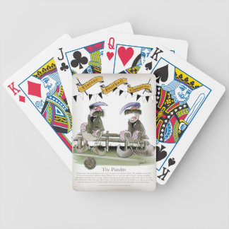 soccer football b + w team pundits bicycle playing cards