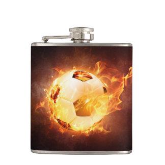 Soccer, Football, Ball under Fire Flask