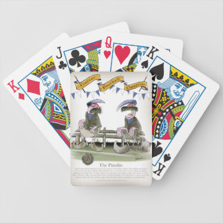 soccer football blue team pundits bicycle playing cards