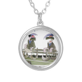 soccer football blue team pundits silver plated necklace