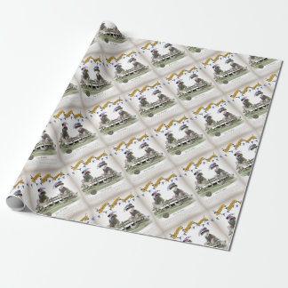 soccer football blue team pundits wrapping paper