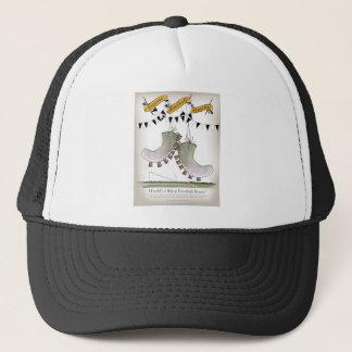 soccer football boots b + w team trucker hat