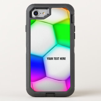 Soccer | Football Colorful Girly OtterBox Defender iPhone 8/7 Case
