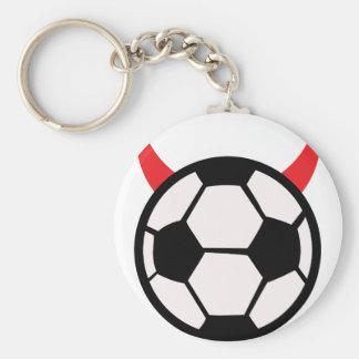 soccer football devil keychain
