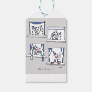 soccer football dog blues forever gift tags