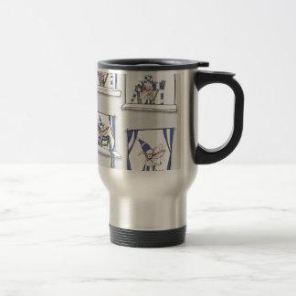soccer football dog blues forever travel mug