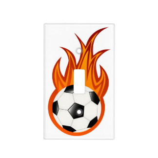 Soccer | Football Fire Light Switch Cover