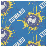 Soccer football goal custom name pattern fabric