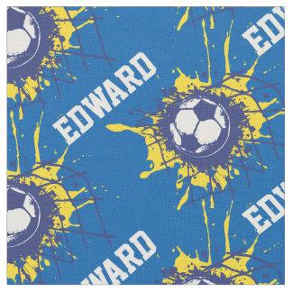 Soccer football goal custom name pattern fabric