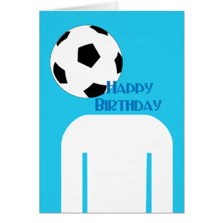 Soccer Football Head happy Birthday Card