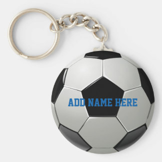 Soccer Football Name Customized Keychain