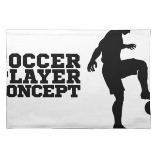 Soccer Football Player Concept Silhouette Placemat