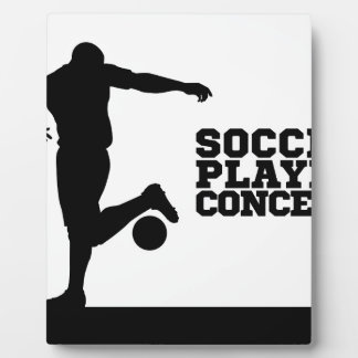 Soccer Football Player Concept Silhouette Plaque