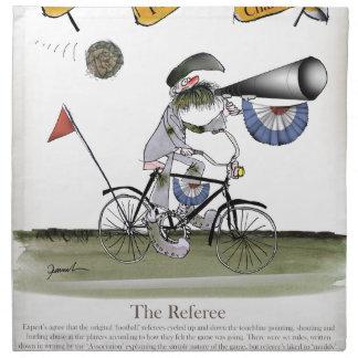 soccer football referee napkin