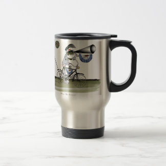 soccer football referee travel mug