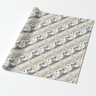 soccer football referee wrapping paper