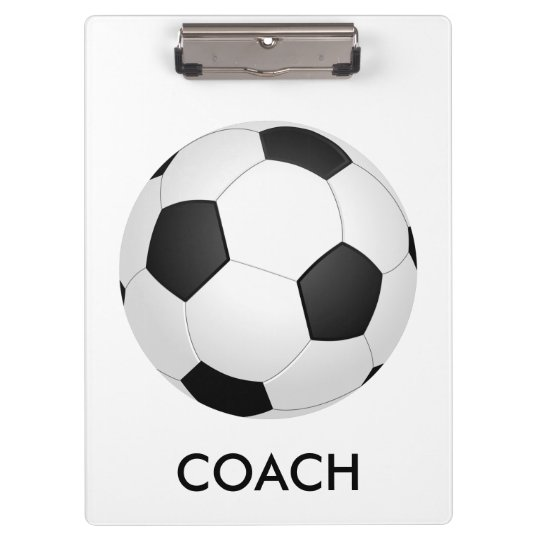 Soccer (Football) School Coach Sports Clipboard