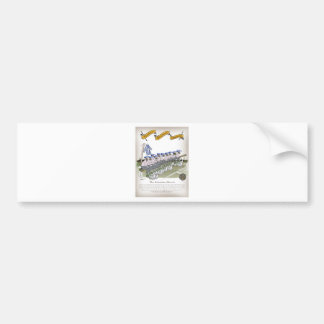 soccer football subs blue white stripes bumper sticker