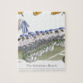 soccer football subs blue white stripes jigsaw puzzle