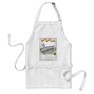 soccer football subs blue white stripes standard apron