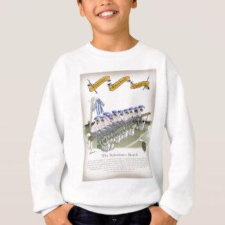 soccer football subs blue white stripes sweatshirt
