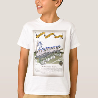 soccer football subs blue white stripes T-Shirt
