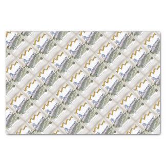 soccer football subs blue white stripes tissue paper