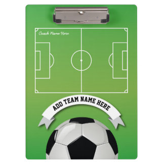 Soccer Football Team Coach Personalized Clipboard